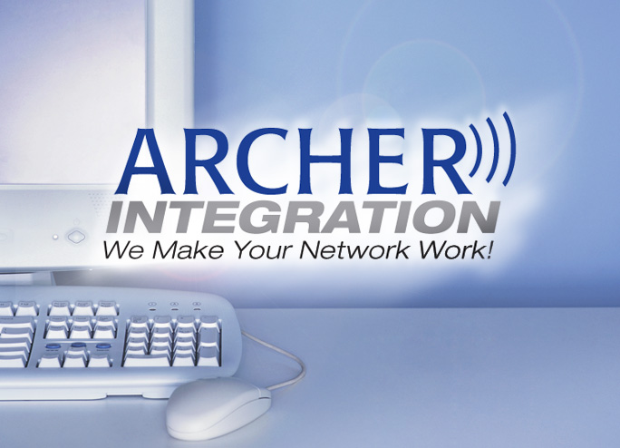Archer Integration logo and computer image